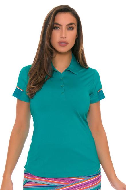 EP Pro Women's Cassis Snap Placket Golf Cap Sleeve Shirt