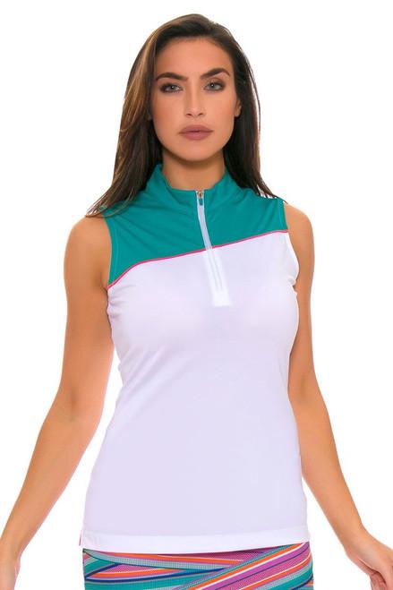 EP Pro Women's Cassis Contrast Blocking Golf Sleeveless Shirt