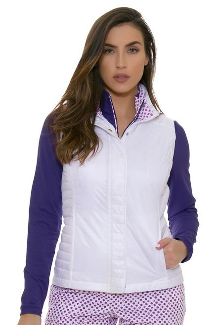 Fairway and Greene Women's Spot On Landry White Golf Vest