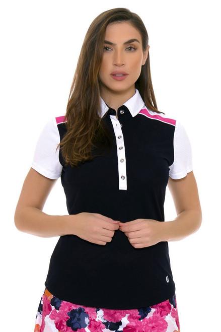 GGBlue Women's Venezuela Dylan Navy Golf Polo Shirt