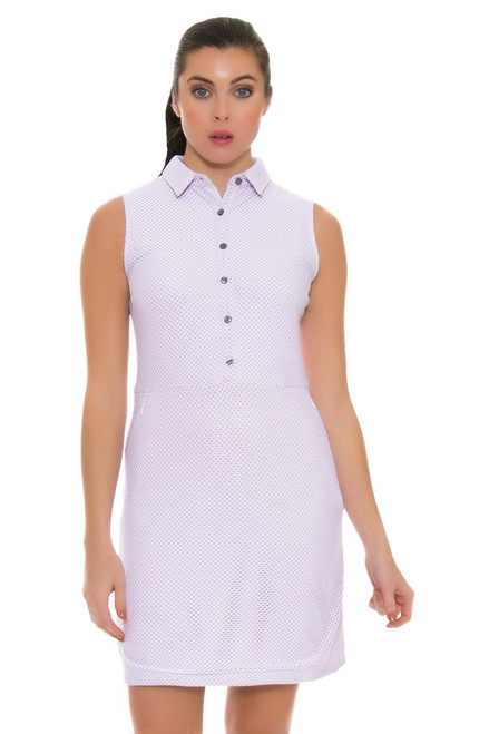 Dagny Scout Pale Pink Mesh Golf Dress