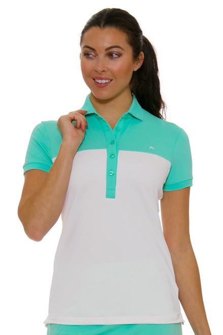 J. Lindeberg Women's Carin Mint Golf Short Sleeve