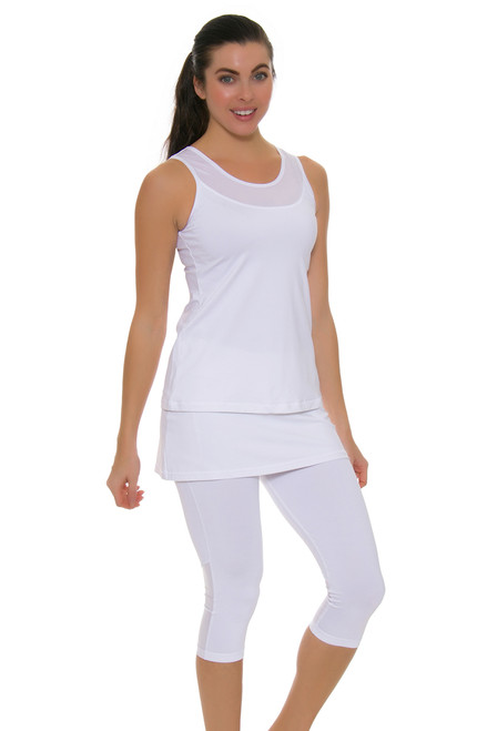 Sofibella Women's Victory White Tennis Skirt Leggings SFB-1526-white Image 1