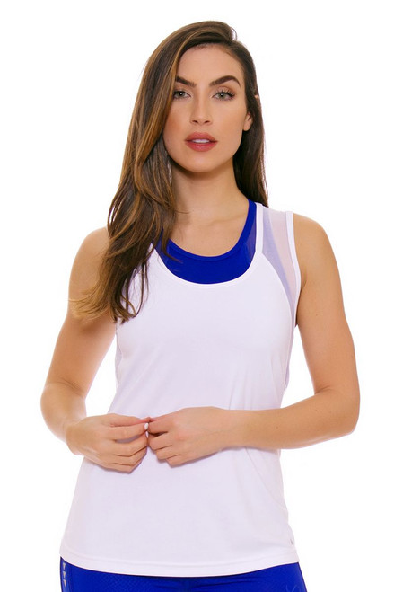 TLF Women's Spring  Maverick White Workout Tank