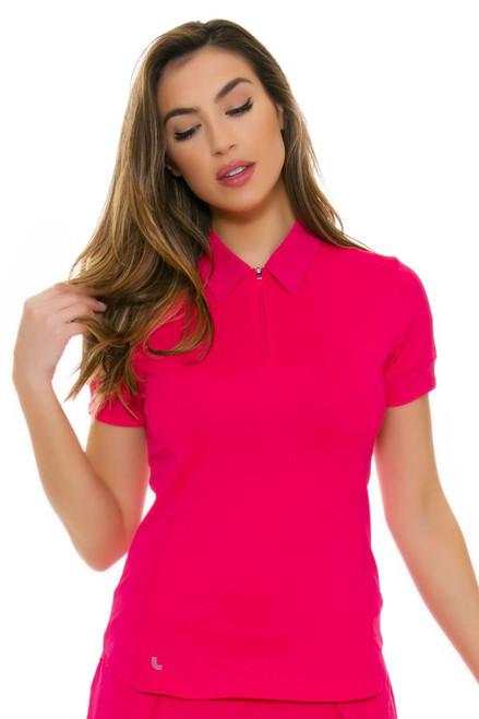 Lole Women's Spring Jordan Tropical Rose Golf Polo Shirt
