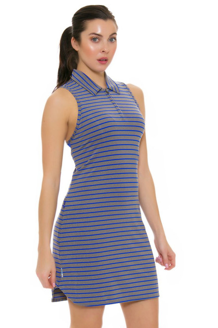 Lole Women's Spring Adisa Dazzling Blue Stripe Golf Dress