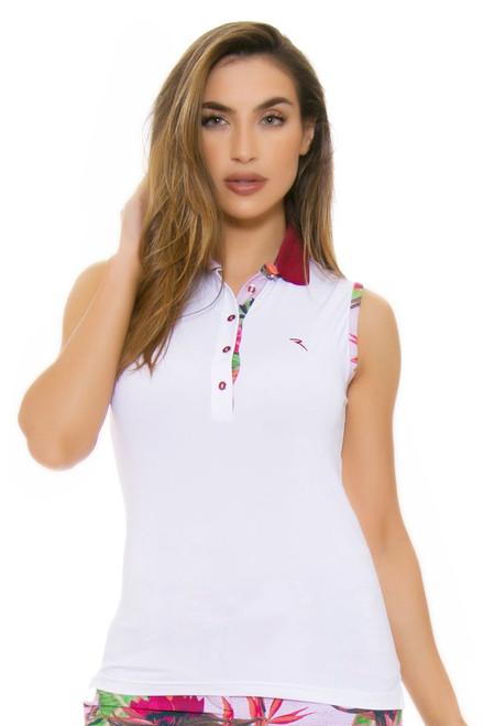 Chervo Women's Tropical Emotion Admir White Golf Sleeveless