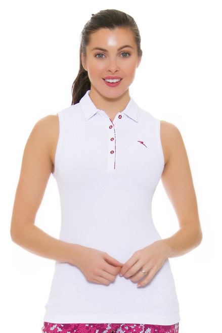 Chervo Women's Tropical Emotion Andrate White Golf Sleeveless