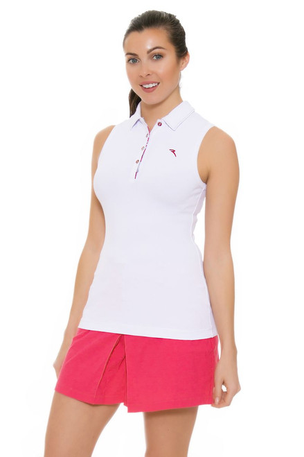 f83928aa8dfea6 Chervo Women s Tropical Emotion Andrate White Golf Sleeveless CS ...