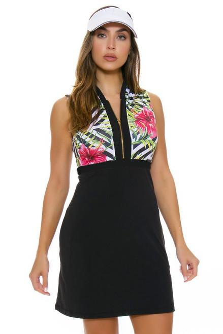 bdb95ce5799a Allie Burke Women s Hibiscus Geo Print Sleeveless Golf Dress AB-D001 ...