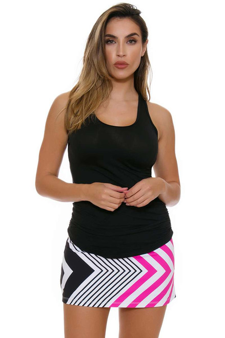 Allie Burke Women's Fine Lines Print Tennis Skirt AB-BSKT01-018