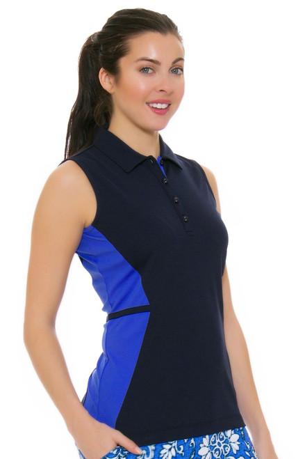 EP Pro NY Women's Beyond Blue Tonal Blocked Golf Sleeveless Shirt