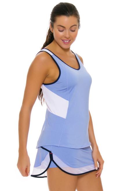 Lucky In Love Women's Vantage Mesh Border Ice Tennis Skirt