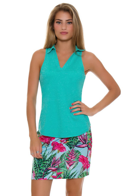 Allie Burke Summer Garden Print Pull On Golf Skort