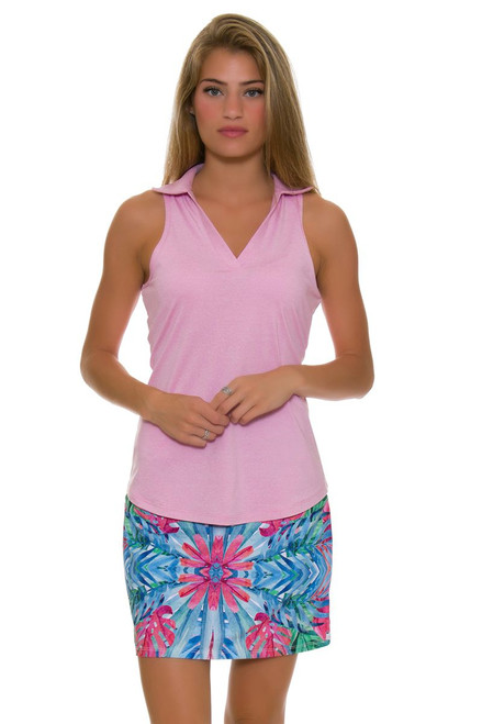Allie Burke Leaf Geo Print Pull On Golf Skort AB-BSKG01-LGO Image 1