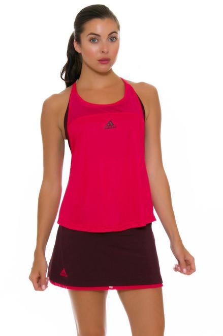Adidas Women's US Open Dark Burgundy Tennis Skirt A-BQ9493 Image 4