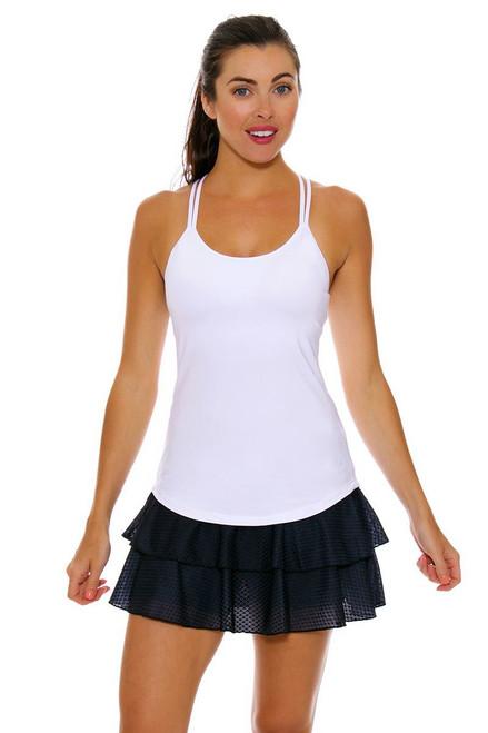 Solfire Black Tennis Skirt
