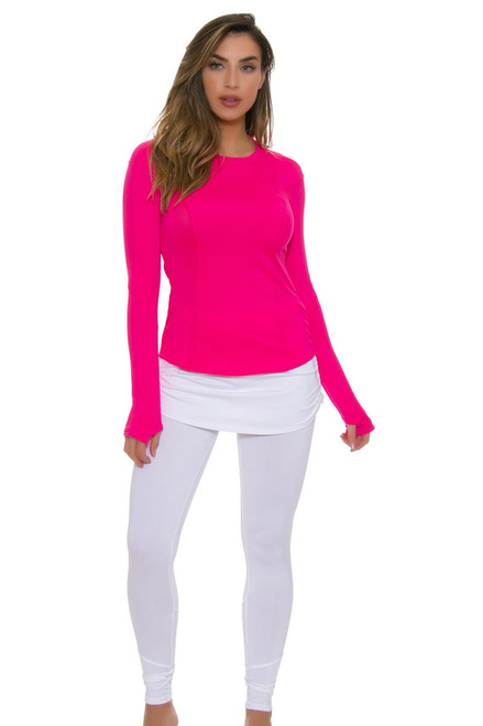 13809e7a9782 ... Element Crew Shocking Pink Tennis Long Sleeve · Lucky In Love Women's  Core Tops Shocking Pink Tennis Long Sleeve - ...