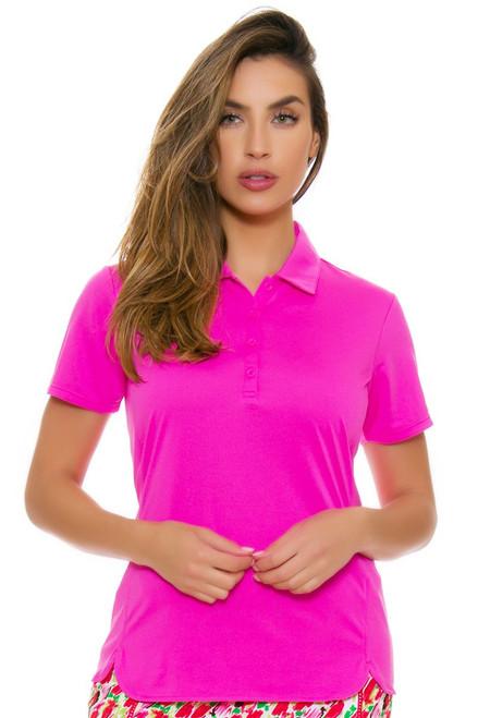 EP Pro NY Women's Rosa Performance Jersey Golf Short Sleeve Polo