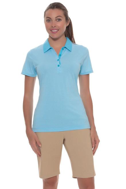 EP Pro Women's Basics Khaki Bi-Stretch Pull On Golf Shorts