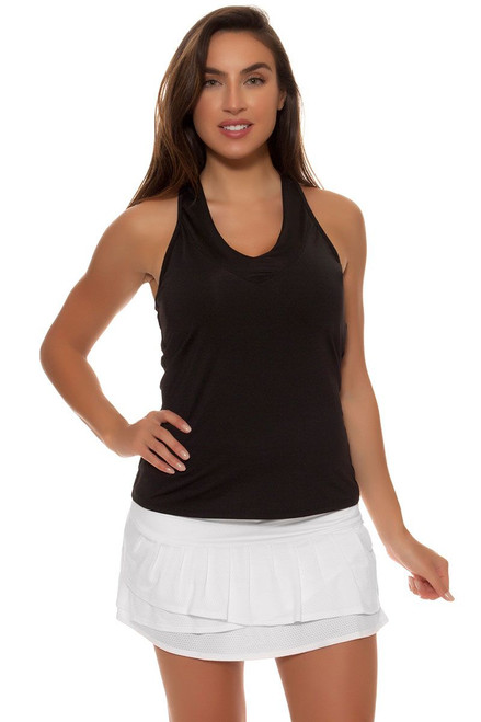 Lucky In Love Women's Retro Wave Long Pleated White Tennis Skirt