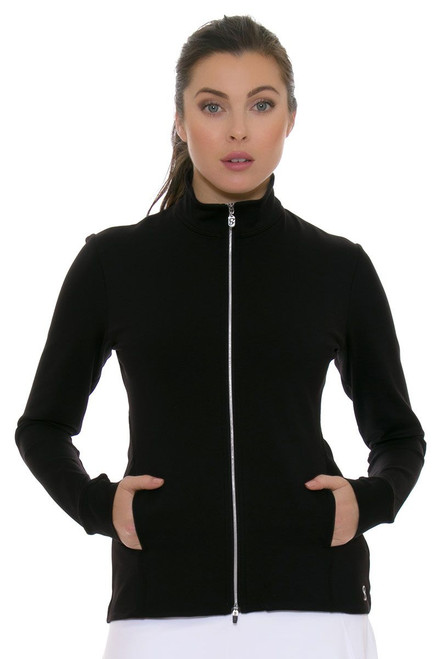 Sofibella Women's Basic UV Protect Fitted Black Jacket SFB-6006-Black Image 3