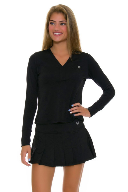 Eleven Flutter Pleated Black Tennis Skirt E-CP505C-Black Image 1