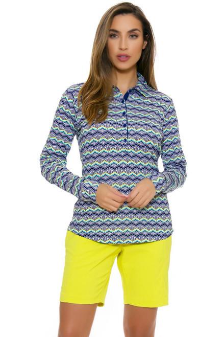 EP Pro NY Women's Basics Wasabi Stitch Crease Golf Shorts