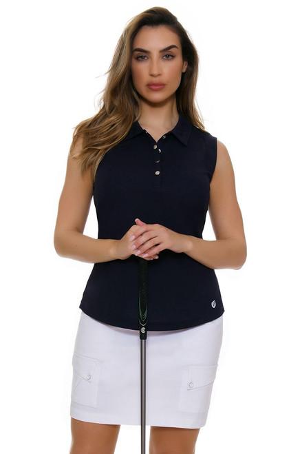 Jamie Sadock Women's Emerald Skinnylicious White Pull On Golf Skort