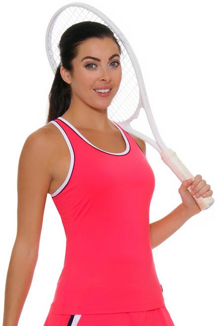 Fila Women's Heritage Solid Racerback Diva Pink Tennis Tank