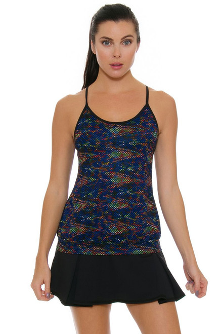 Tonic Active Women's Kaleidoscope Black Force Tennis Skirt