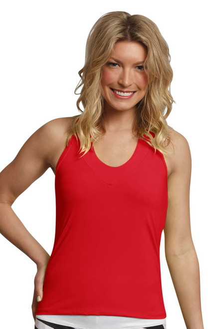 Lucky in Love Core V-Neck Flame Tennis Tank with Built-in Bra
