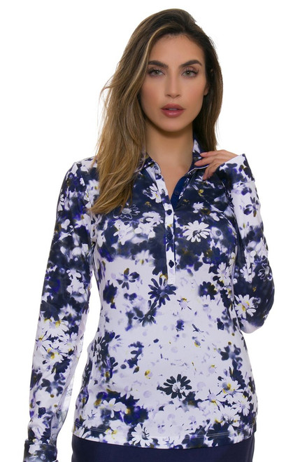 EP Pro NY Women's Basics Daisy Print Golf Long Sleeve Shirt