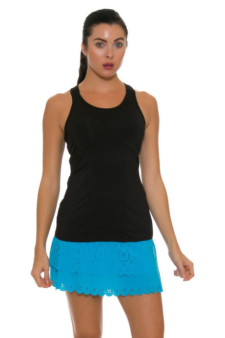 Lucky In Love Women's Core Long Laser Cut Tier Ocean Tennis Skirt