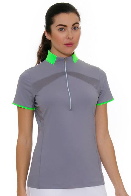 Annika Women's Eclipse Range Mock Golf Short Sleeve Shirt