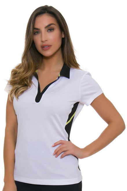 EP Pro NY Women's Culture Clash Contrast Blocking Golf Cap Sleeve Shirt