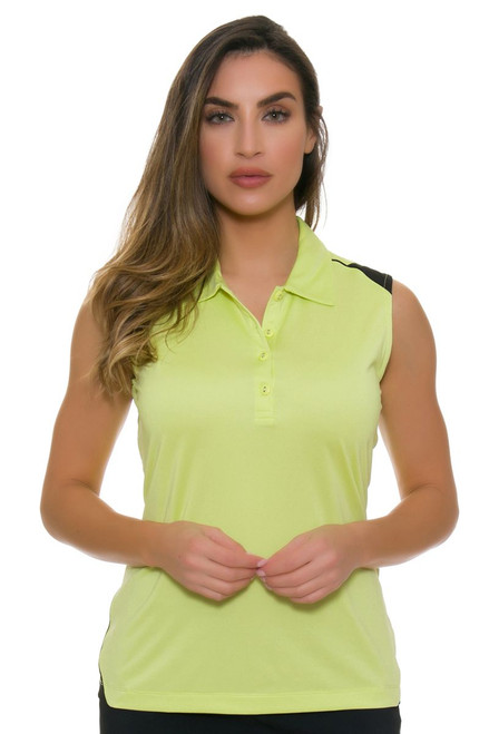 EP Pro NY Women's Culture Clash Contrast Trim Golf Sleeveless Shirt