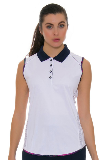Greg Norman Women's Royal Palm Marina Golf Sleeveless Shirt