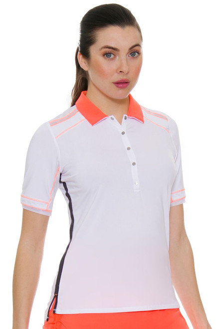 Lucky In Love Women's Spaced Out Demi Snap Golf Polo