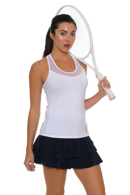 Lucky In Love Women's Core Laser Cut Rally Pleat Tennis Skirt