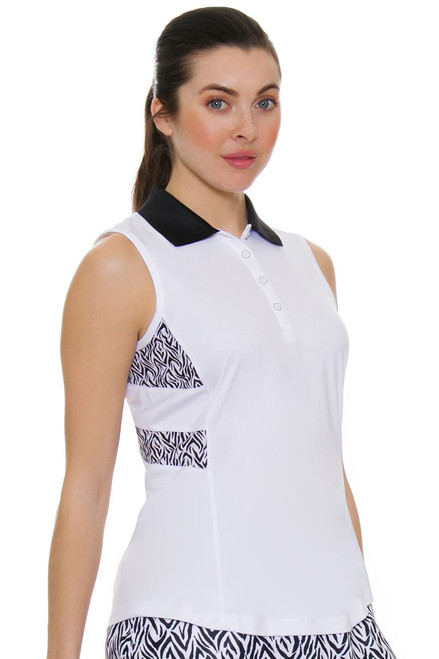 Greg Norman Women's Jungleland ML75 Tigress Golf Sleeveless Shirt
