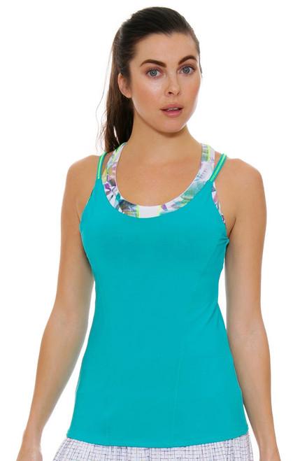 Lucky In Love Women's Haviana Floral Breeze Bralette Tennis Cami