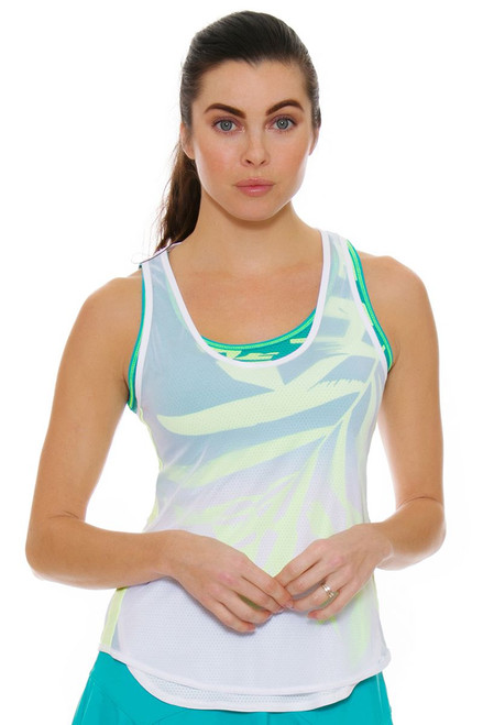 Lucky In Love Women's Haviana Maikai Mesh Layered Tennis Tank
