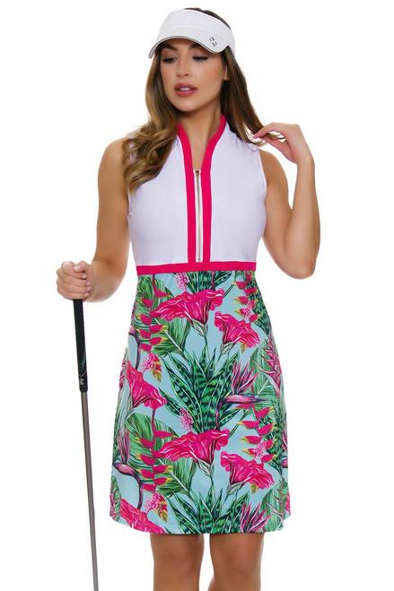 Allie Burke Summer Garden White Golf Dress