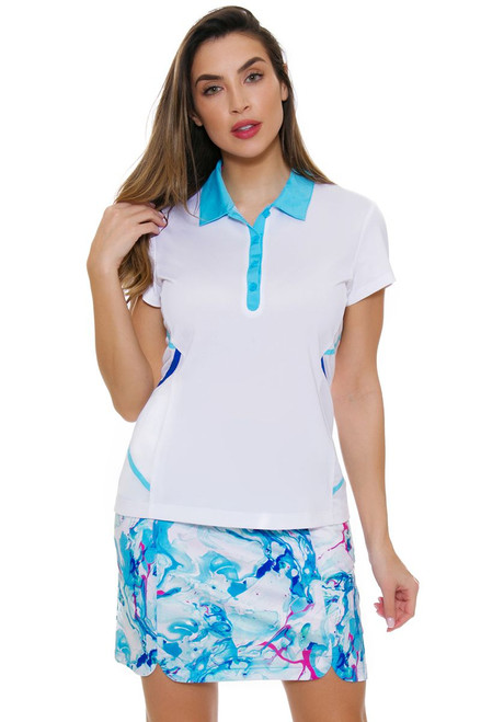 EP Pro NY Women's Al Fresco Marble Print Pull On Golf Skort