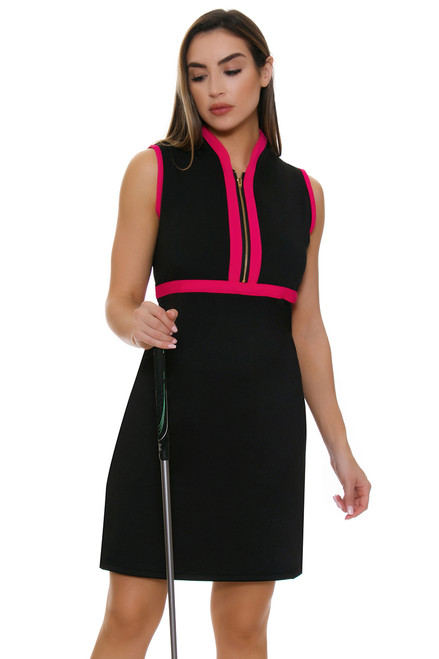 Allie Burke Solid With Trim Golf Dress