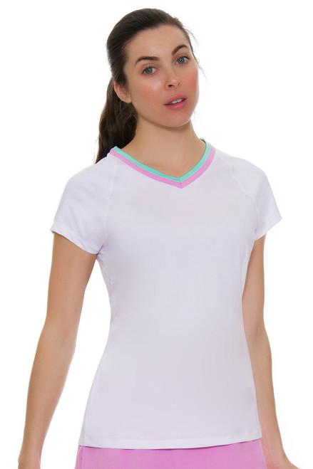 Fila Women's Elite V-Neck Tennis Short Sleeve