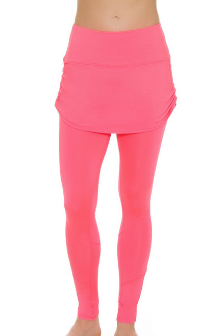 8fd596a2829 Lucky In Love Women s High Frequency Tennis Ruched Skirt Legging LIL ...