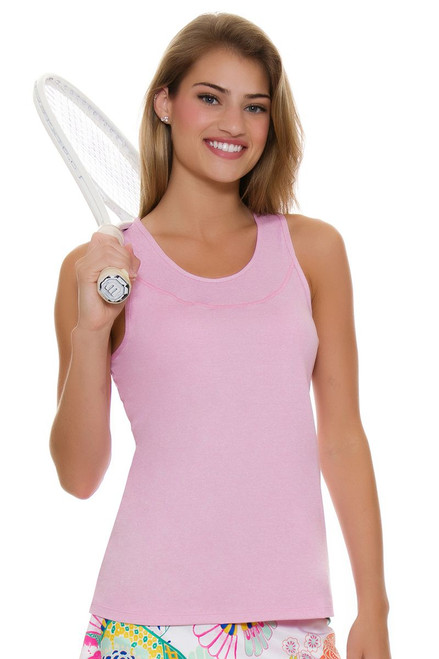 Allie Burke Women's Light Pink Heather Tennis Tank
