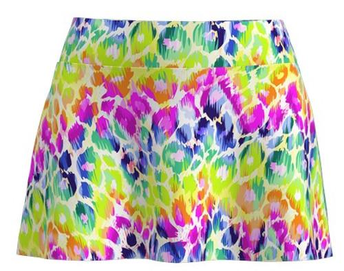 Allie Burke Women's Animal Multi Tennis Skirt (AB-BSKT02-ANM)